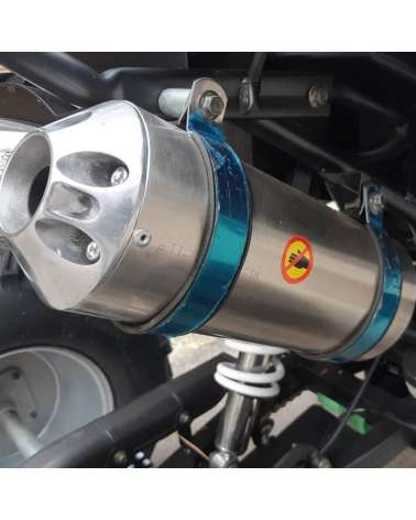 Maxi Quad Hunter Pro 200cc - Dettaglio Scarico Sportivo