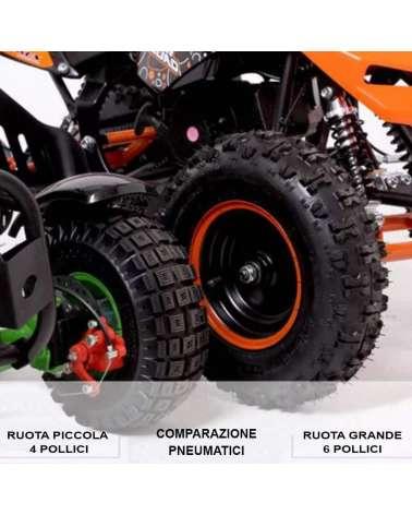 Mini quad Raptor 50cc R6 Maxi - Comparazione Pneumatici 6 Pollici