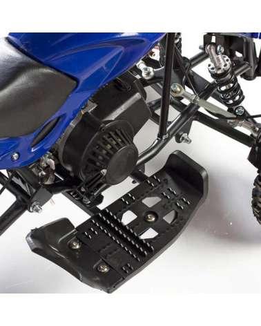 Mini quad Bandit 50cc - Dettaglio Avviamento a Strappo e Pedane